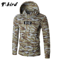 T Bird 2017 Hoodies Men Letter Printing Men Hip Hop Sweatshirt Winter Brand Hoodie Mens Camouflage