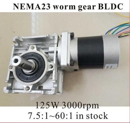 24V 57 Worm Reducer Brushless DC Motor 125W Gear Ratio 7.5 10 15 20 25 40 50 60 80 :124V 57 Worm Reducer Brushless DC Motor 125W Gear Ratio 7.5 10 15 20 25 40 50 60 80 :1