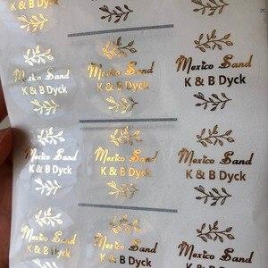 Персонализированная металлическая наклейка с золотым и оливковым листом, праздничная наклейка на годовщину, аксессуары для приглашений