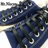 Mr Niscar 1Set 12Pcs Black Elastic Silicone Shoe Laces Elastic Shoelace For Adults Unisex Kids Athletic