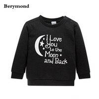 New Fashion Kids Clothes Boys Girls Outwear&Coats Long Sleeve Hoodie Black Cotton Children Sweater Shirt