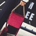 Классик коробка натуральной pleuche сумки женские crossbody знаменитый бренд дизайнер небольшой лоскут сумки женские стюардесса цепи сумки на ремне