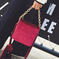 Classic box genuine pleuche handbags ladies crossbody famous brand designer small flap bags women stewardess chain shoulder bags