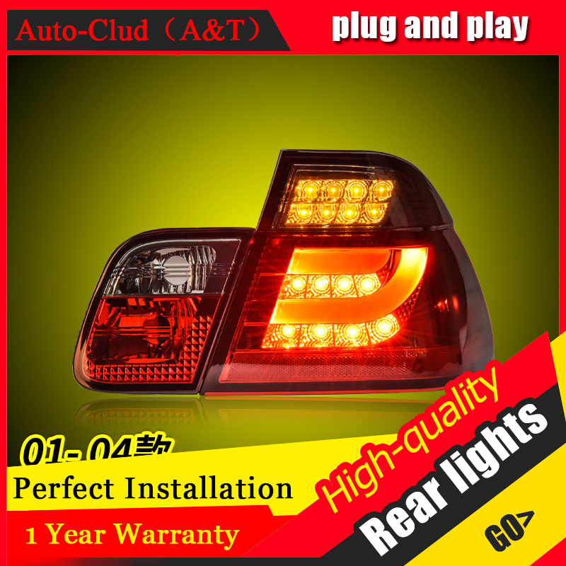 Car Styling LED Tail Lamp for E46 3 series Tail Lights 2001-2004 for E46 Rear Light DRL+Turn Signal+Brake+Reverse LED light 2 rilliant red 7507 py21w canbus led replacement bulbs for bmw f30 f32 3 4 series rear turn signal lights or brake tail lights