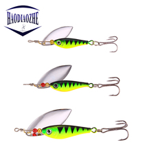 Купить с кэшбэком Sequins Fishing Lure 11g 15g 20g Isca Artificial Metal Winter Wobbler Hight Quality Spinner Spoon Baits Carp Fishing Hooks