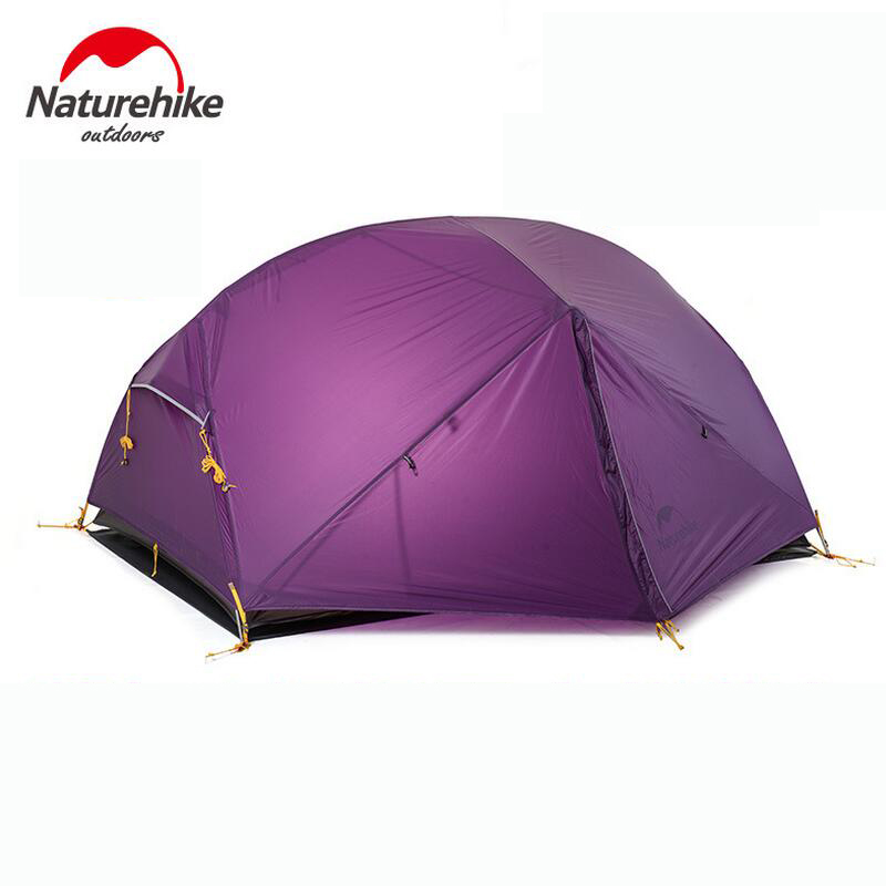 Naturehike Ultralight Outdoor Camping Tent 2 person 20D silicone Waterproof Double layer Hiking Tourist Tent Fishing Beach Tents naturehike ultralight 20d silicone coated 2 person double layer waterproof camping tent with snow skirt