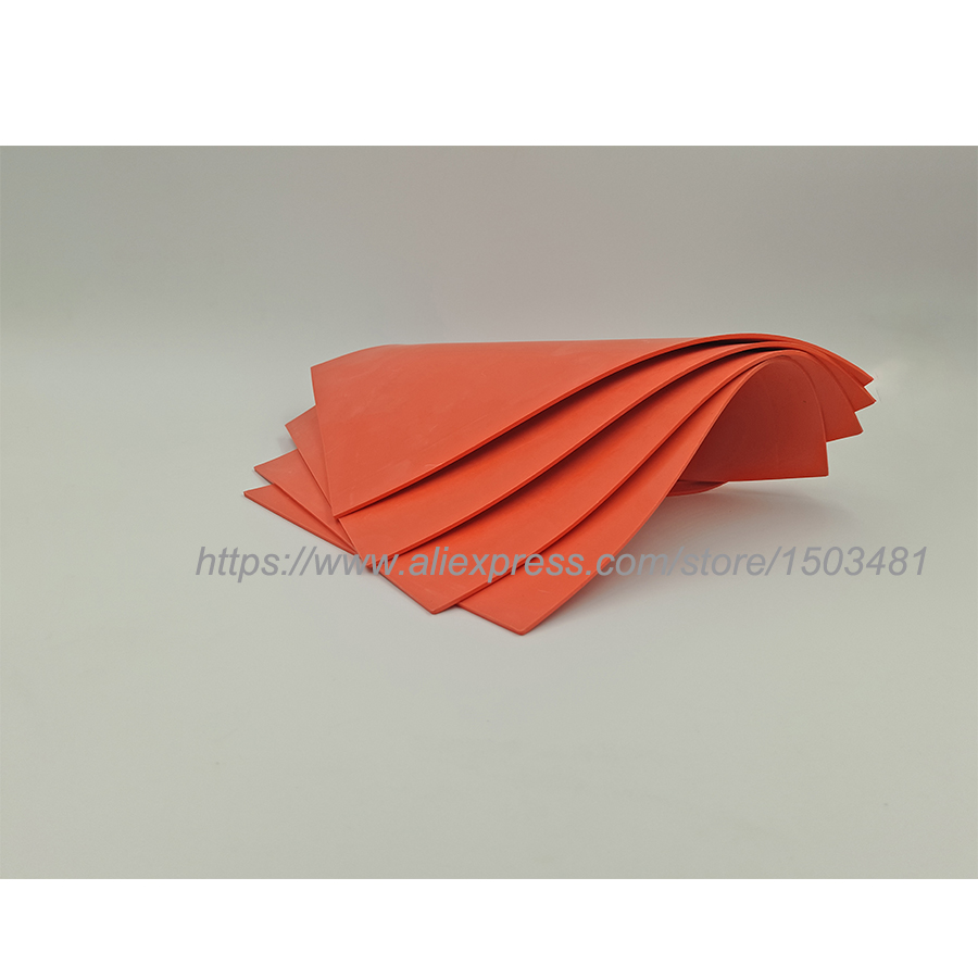 Free Shipping 2pcs/lot  Laser Rubber Sheet/ Rubber  Sheet Pad Red  A4 Size  297*210*2.3mm Used For Engrave Stamp