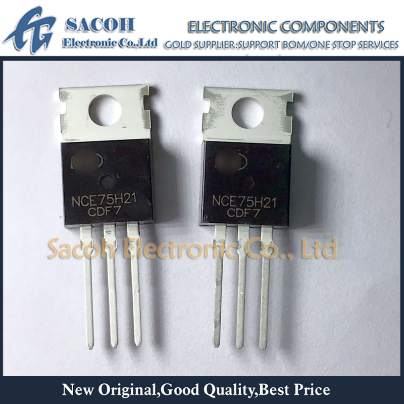 Envío gratis 10 Uds NCE75H21 o NCE75H21B o NCE75H11 o NCE75H14 TO-220 210A 75V n-channel Power MOSFET