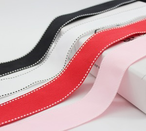 """38MM 25MM 22MM 16MM 9MM Stitch Grosgrain Ribbon Top Quality Wedding Trims For DIY Accessories 1-1/2"""" 1 Inch 7/8"""" 5/8 Inch 3/8""""(China)"""
