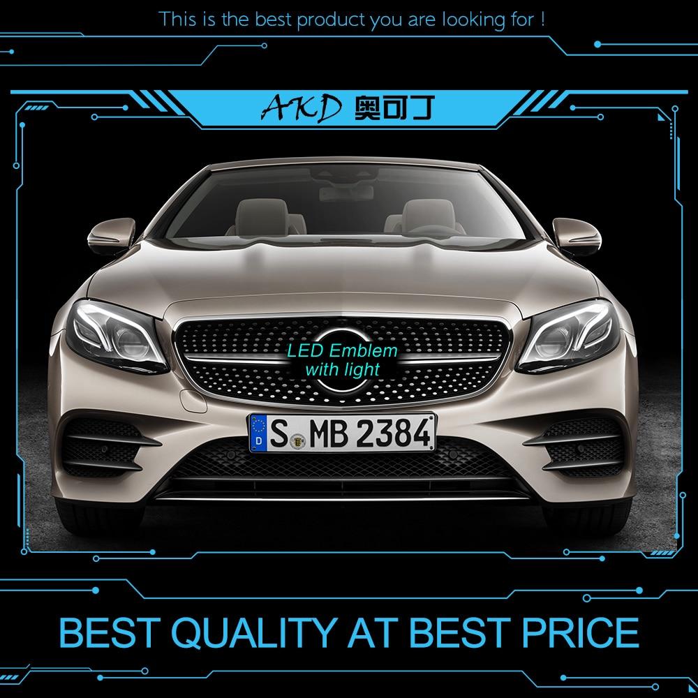 Car Styling LED Emblem for Mercedes Benz GLC X205 GLC200 GLC260 LED Star Light DRL FRONT GRILLE LED LOGO Daytime Running light