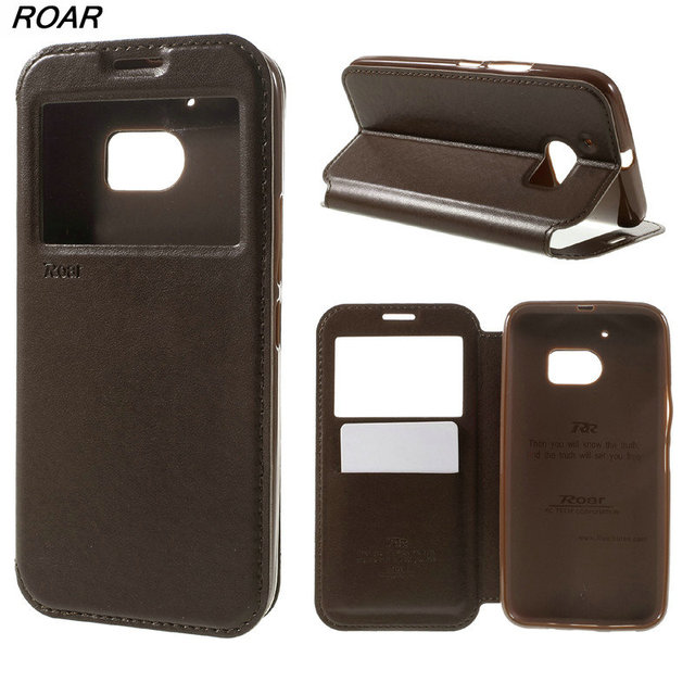 For HTC One M10 Case Original ROAR KOREA View Window Card Holder Leather Cover Case for HTC 10 / 10 Lifestyle
