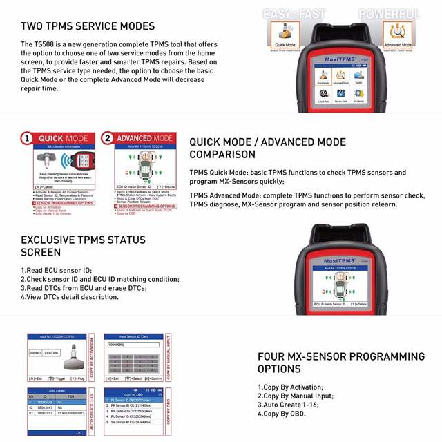 US $444 99 11% OFF|TPMS Replacement Tool Autel MaxiTPMS TS508 K tire  Pressure Monitoring System reset Car Diagnostic Tool Automotive Scanner-in