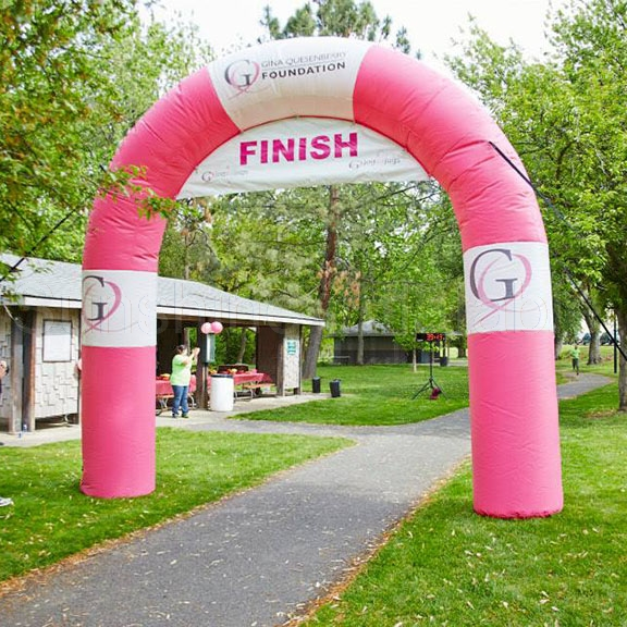 Best quality oxford outdoor font b sports b font running mini inflatable arch for marathon N