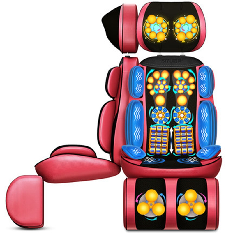 Hot Vibrating electric body massager machine heating shoulder back massage cushion chair relax muscle therapy massage