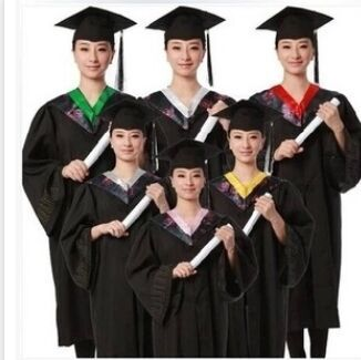 High Quality School Uniform for Girls Graduation Gown University Cap with Tassel Academic Dress Uniforme Scolaire kleider weit