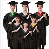 High Quality School Uniform for Girls Graduation Gown University Cap with Tassel Academic Dress Uniforme Scolaire