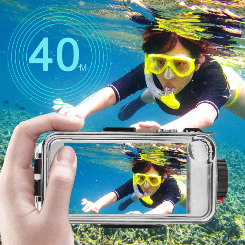 40m 130ft Underwater Bluetooth Waterproof Diving Case Cover Photo Taking Universal Swimming Waterproof Case Smartphone Cover