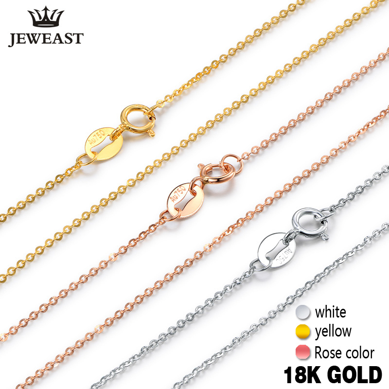 18k pur or collier femme femmes fille cadeau nouveau serpent chaîne diamant-bijoux de mariage fête haut de gamme réel solide 750 remise chaude