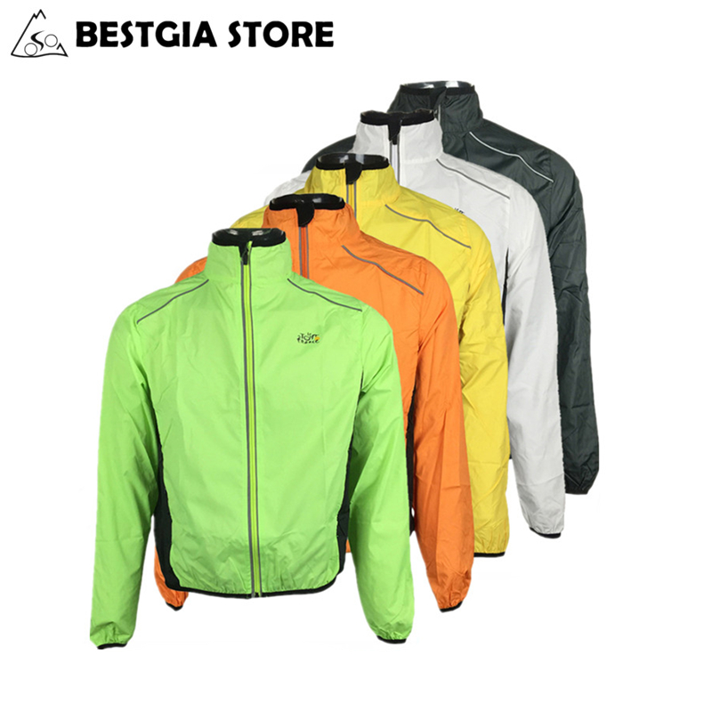 Mens Cycling Jacket Windproof Reflective MTB Bike Bicycle Jerseys Wind Coat