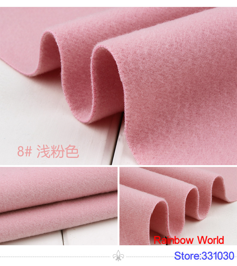 8# light pink 1 meter double brushed middle thick cloth fabric for DIY colthes dress overcoat material