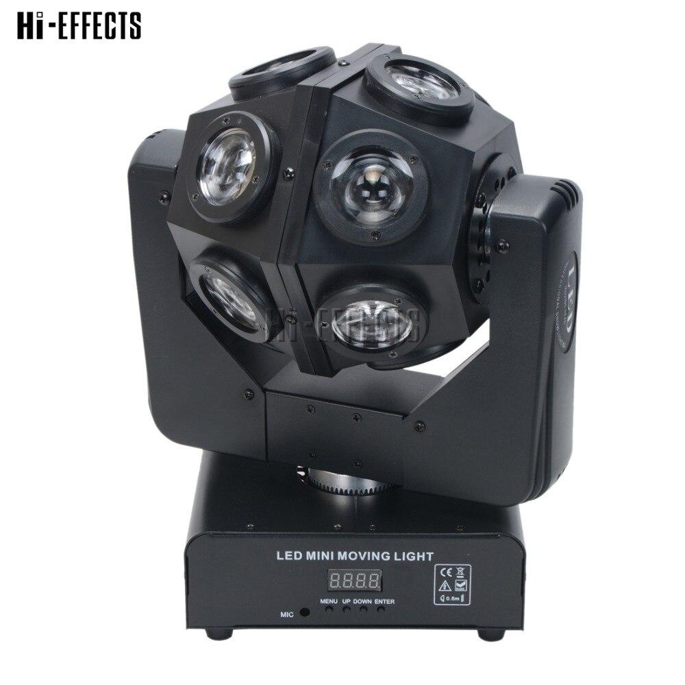 Mini Moving Head Ball Light  12X10W RGBW Football/Roller Moving Head /DMX512 Infinite Rotation LED Disco DJ Beam Light For Party