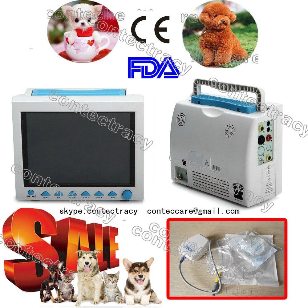 CE ICU CCU veterinaria / animali / hišni monitor paziente, 6-parametri, EtCO2 8000-vet