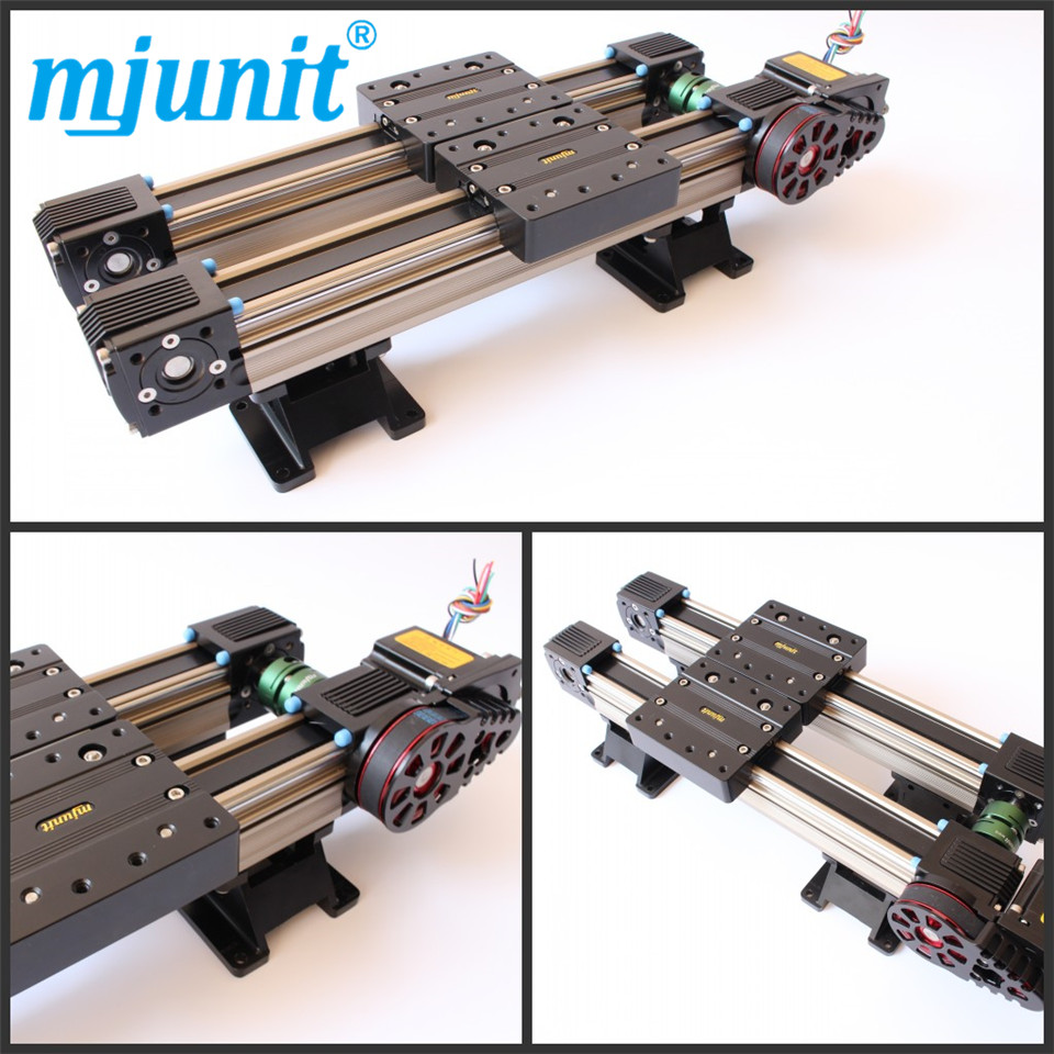mjunit MJ45 Belt drive linear actuator with 350mm total length 4 rails for motor 57mjunit MJ45 Belt drive linear actuator with 350mm total length 4 rails for motor 57