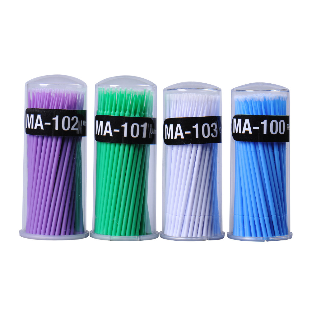 100 unids / lote Micro Durable Desechables Extensión de Pestañas - Maquillaje - foto 3