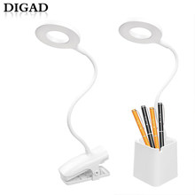 New 28 LED Eye Protect Pen holder Light Table Lamp Stepless Dimmable Bendable USB Powered Touch Sensor Control reading desk lamp(China)