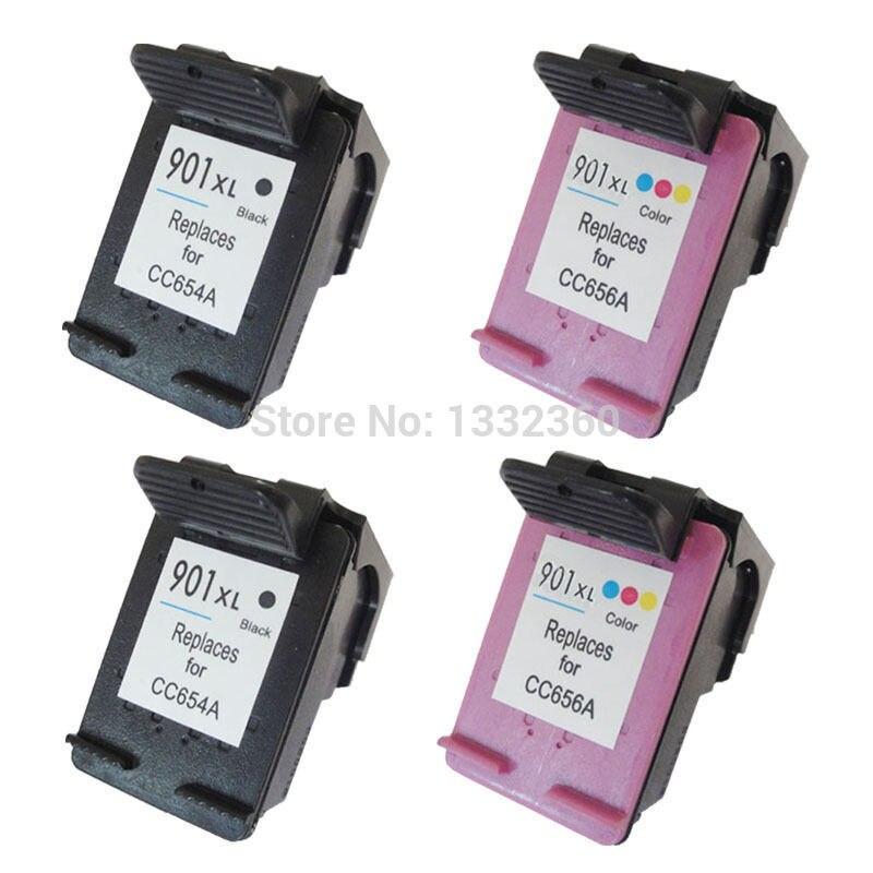 4pk für hp 901 xl tintenpatrone für hp901 901xl für hp officejet...