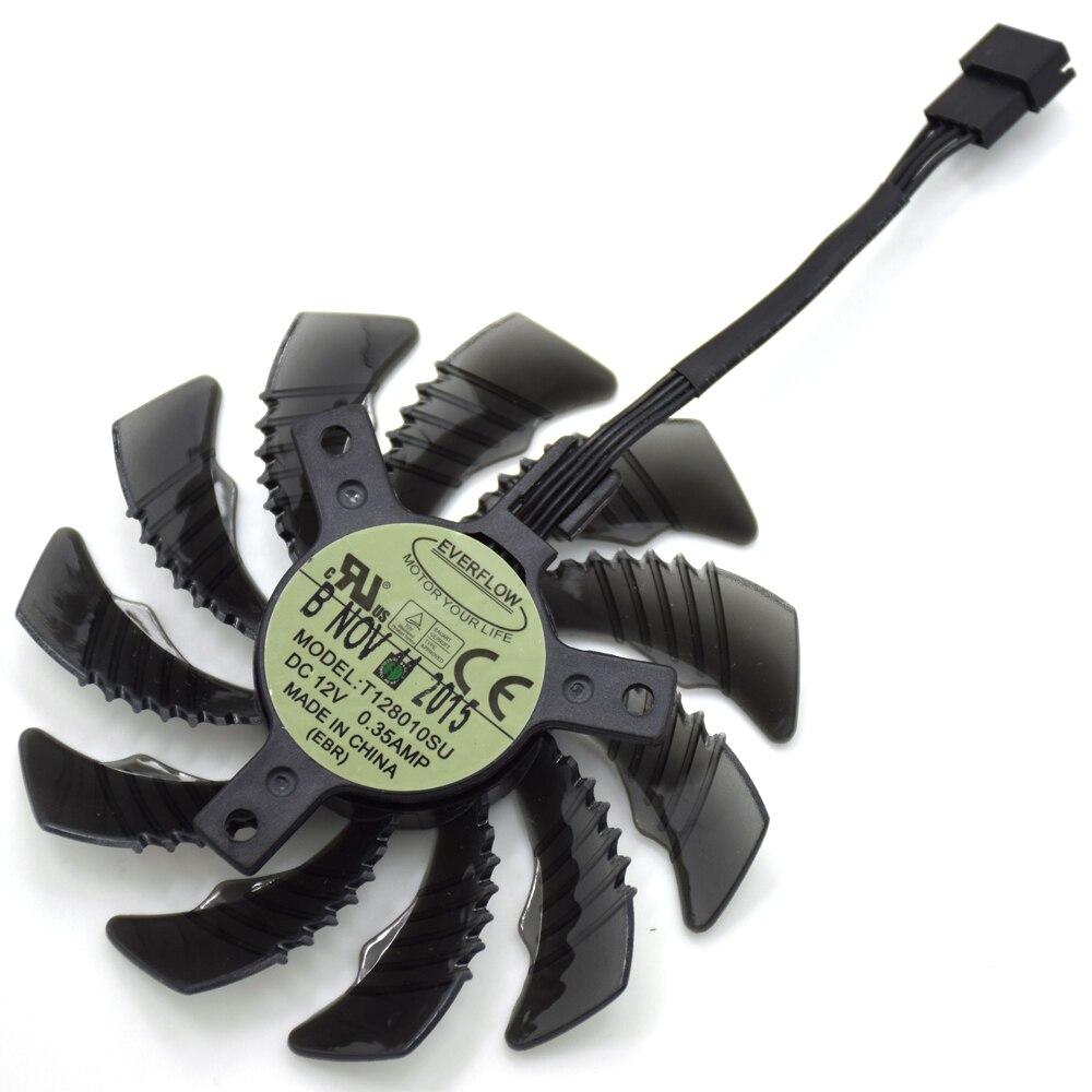 75mm T128010SU 4Pin ventilador reemplazar para Radeon R9 GTX 960 970 980 Ti GTX 1060 1070 1080Ti juego ventilador de la tarjeta gráfica