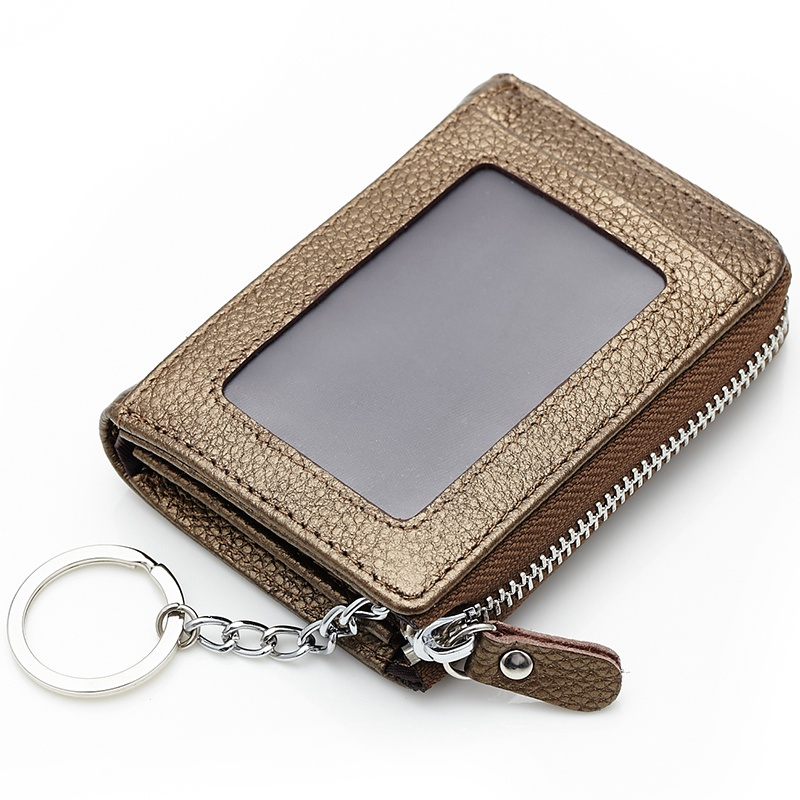 genuine leather coin purse for men women zipper real cow leather mini key holder wallets ladies small coin wallets candy color