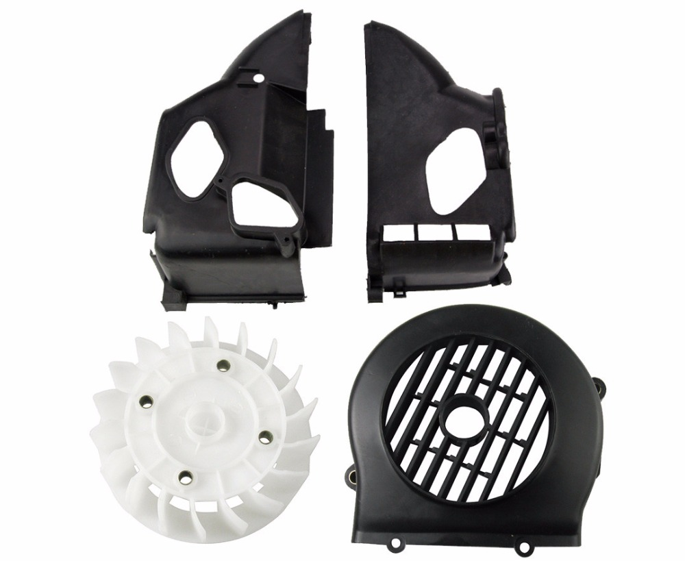 Scooter AB Cover Fan Set GY6 50 80cc Radiating Cover Plastic Part Repair Bike Engine Part Moped Wholesale SRTJ-GY50