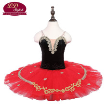 Girls Black Ballet Tutu The Nutcracker Performance Stage Wear Kids Dance Competition Costumes Women Skirt