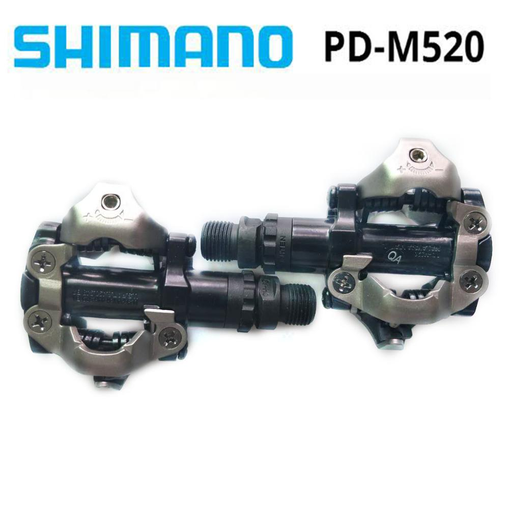 PD M520 Shimano SPD Pedal MTB Mountain Bike Self Locking Click Pedals WITH Cleats PD22 free