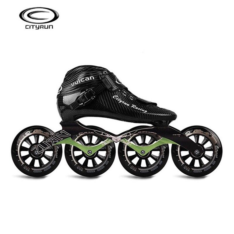 CITYRUN Racing uulcan профессиональные встроенные Скорость коньки обувь углеродного волокна черный катание Patines для Корея Япония Азии EUR 30 44