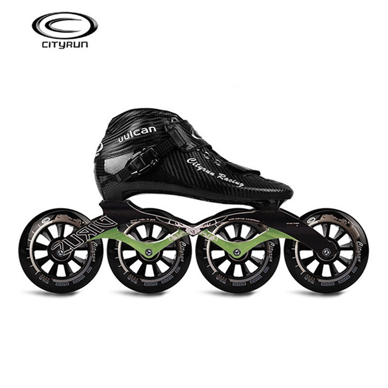 CITYRUN Racing Uulcan Professional Inline Speed Skates Shoes Carbon Fiber Black Skating Patines For Korea Japan Asia EUR 30-44