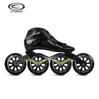 CITYRUN Racing uulcan Professional Inline Speed Skates Shoes Carbon Fiber Black Skating Patines for Korea Japan Asia EUR 30 44