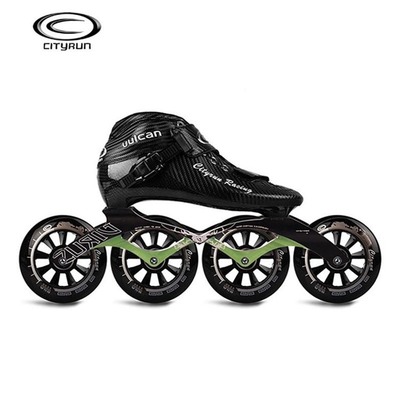 CITYRUN Racing uulcan Professionnel Inline Vitesse Patins Chaussures En Fiber De Carbone Noir De Patinage Patines pour Corée Japon Asie EUR 30- 44