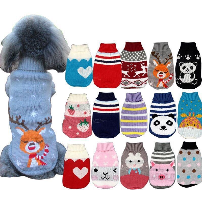 Popular Cartoon Puppy Clothes Autumn Winter Coats For Small Dog Cats Chihuahua Soft Warm Pet Jackets Kawaii Dog Coat Clothes