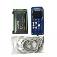 NVEM V2 6 axis CNC Controller 200KHZ Ethernet MACH3 Motion Control Card + 6 Axis MPG LCD Manual Pulse Generator