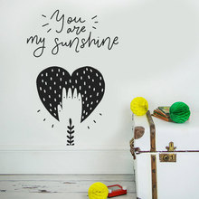 Nursery Decor, You Are My Sunshine, Baby Room Wall Art Deco Girl Boy Vinyl Stickers DIY BO02