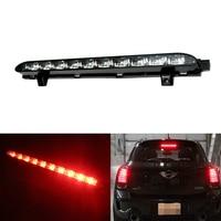 12V Car Led Auto Tail Lamp 10 LED Black Chrome Lens Red High Mount Third 3rd
