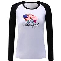 Memorial Day americano Camiseta de Manga Longa Mulheres Senhora Menina Parar de Câncer camiseta Eu Te Amo até A Lua E Falta Casal Tee T-shirt
