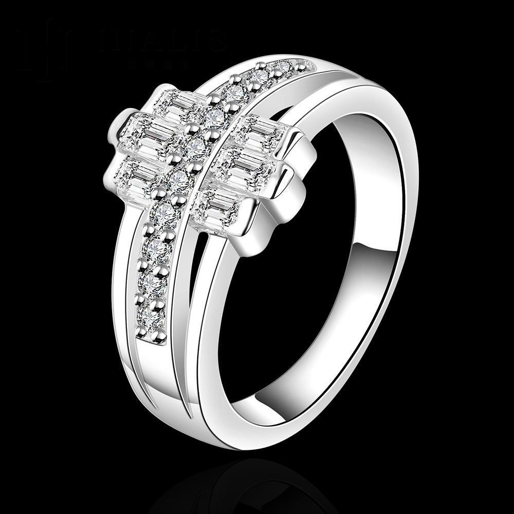 d3233ba90 Venta caliente! moda ANILLO DE PLATA 925 joyería de plata esterlina, anillo  cristalino R481