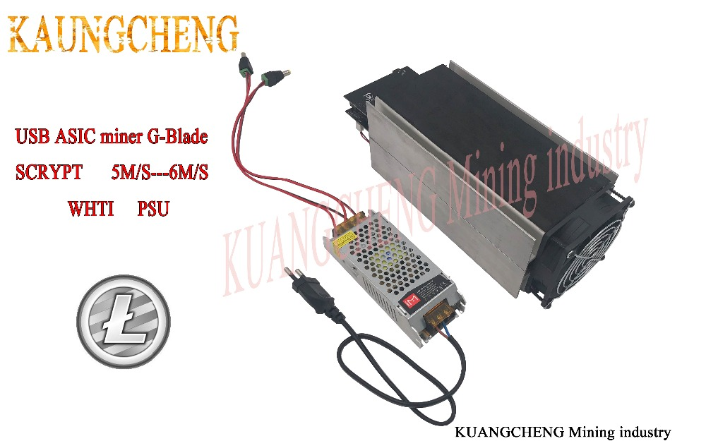 KUANGCHENG Mining Industry  Ltc Miner Gridseed Blade G-Blade Scrypt Litecoin ASIC Miner 5.2~6Mh/s Asic Miner Litecoin Miner +PSu