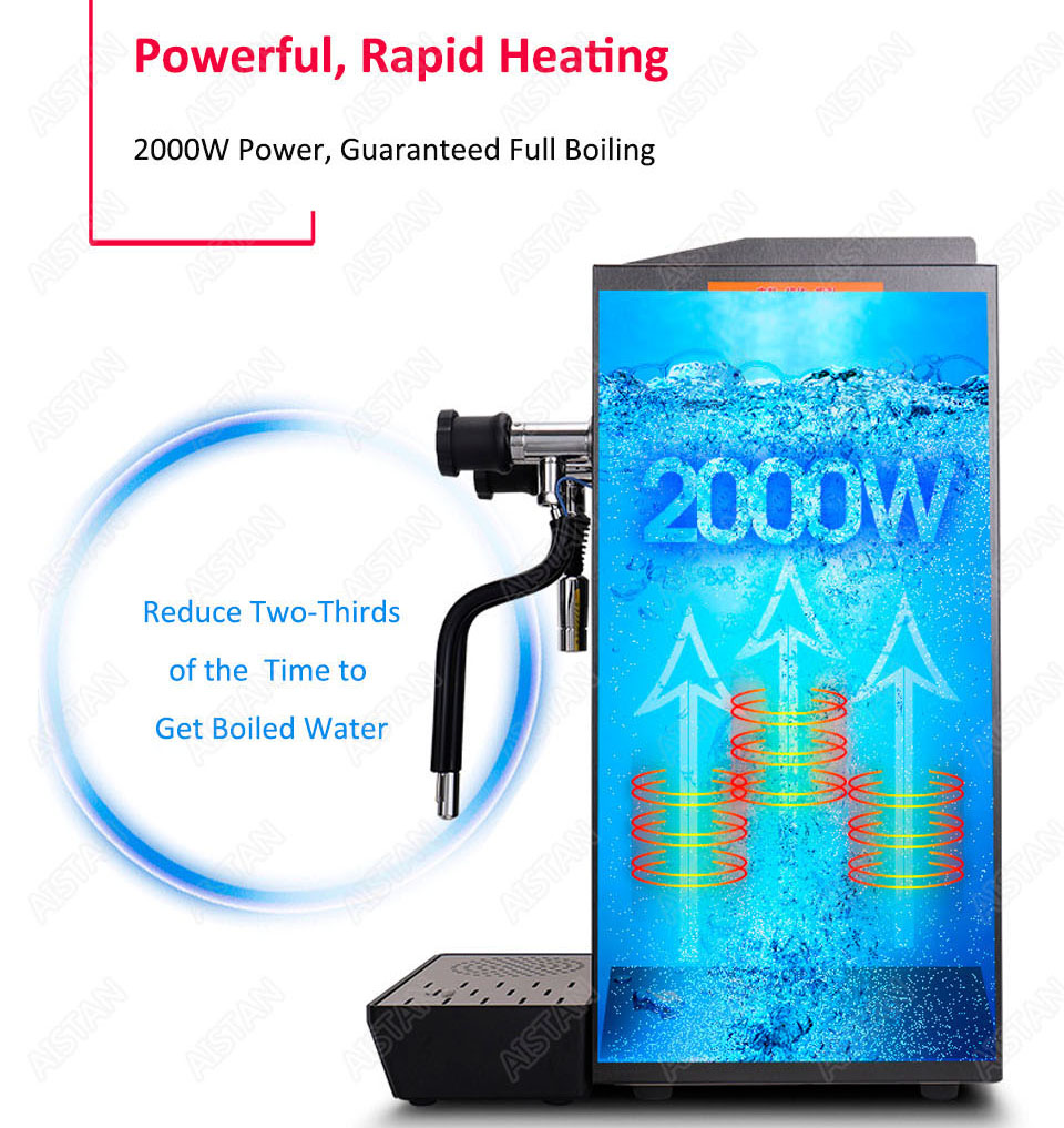 RC800 Commercial stainless steel Water Boiling Machine electric multifunctional steam water boiler for bar 220V 6