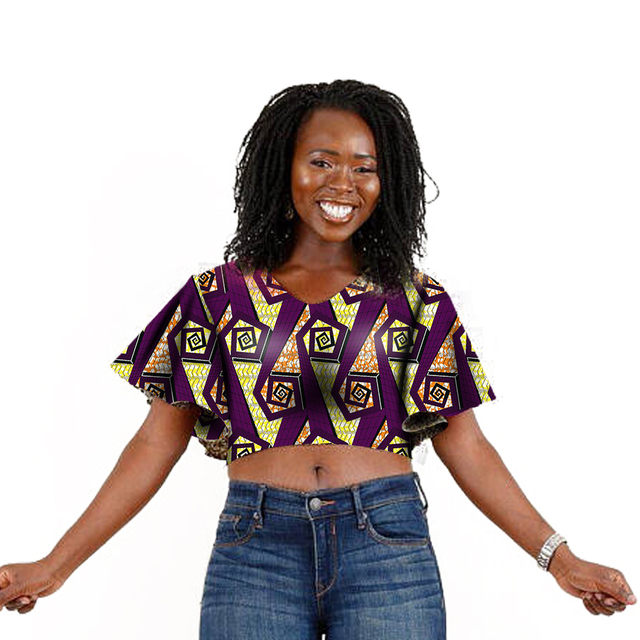 112d95ab64b US $29.99 |Summer Fashion Flare Sleeve Women Short Tops Dashiki Clothes  African Festive Print T Shirt Africa Women Clothing Customized-in T-Shirts  ...