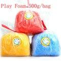 Play 500 g/bolsa de espuma suave luz de color plastilina modelo magia de aire seco limo limo play dough plastilina juguetes para niños