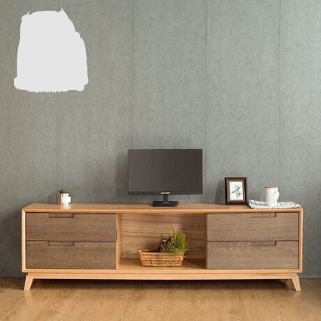 Tv Stands Living Room Furniture Home Solid Wood 1 8 Meters Nordic Minimalist Modern Red Oak Cabinet 2018 Hot